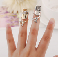 OU7110 jewelry suppliers lady's diamond nail ring
