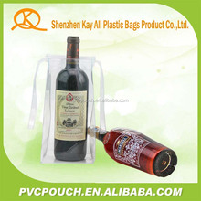 Hot export goods fashion design wine cooler tote bag stand up pouch bag