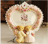 2015 new hot design resin wedding gifts love photo frames