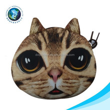 BSCI Factory 3D printed purse cat coin bag
