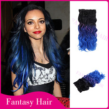 Guangzhou factory futura fiber ombre hair extension synthetic hair