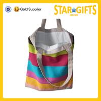 Hot selling fashionable lady handbag colorful cotton tote bag