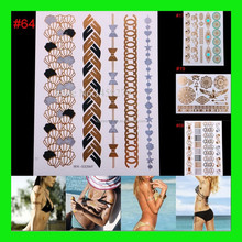 Flash temporary tattoos henna sticker 100 designs sexy products fashion body art fit women dress in party date ball daily life
