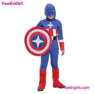 Comercio al por mayor Captain America Traje de halloween Para Los Niños
