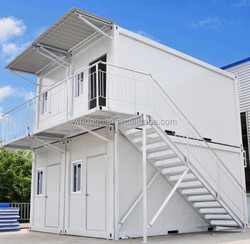 Two floors container house for workers on construction site