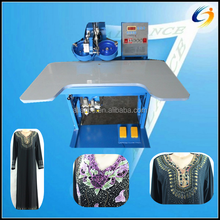 Computerized 1 head 2 colors Middle east popular rhinestone fixing machine for Abaya