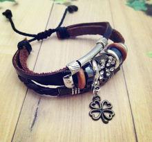 Handmade Braided PU Leather Bracelet Inspiration Bracelet Infinity Bracelet Lucky Bird Jewelry