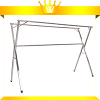 Outdoor Stainless Steel Clothing Rack Expandable Laundry Clothes Drying Rack