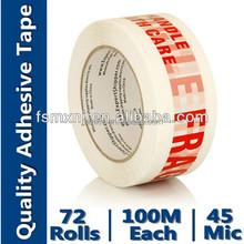 bopp adhesive tape, high quality warning tape price