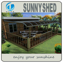 Patio cover with 100% Anti-UV polycarbonate sheet