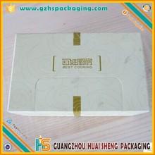 Écologique recyclé pas cher boîte de mouchoirs en papier avec motif personnalisé imprimé