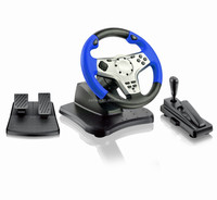 munufactourer direct sale 3 in 1 racing game car steering wheel for pc ps2 ps3