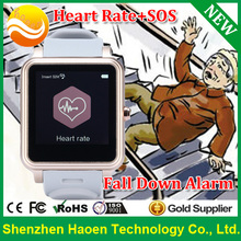 Factory NEW 3D Sensor Fall Detect Watch with Heart Rate Pulse Watch for senior Elderly Aged people SOS health care watch