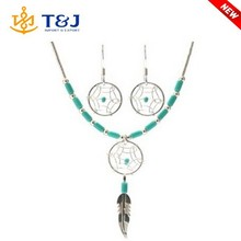 China supplier high quality fashion designs dream catcher necklace earrings