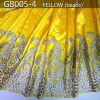 GB005-4 2015 raw silk george fabric/african lace george/raw silk george wrappers