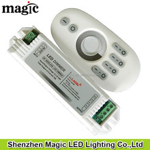 12V<144W 24V<288W 2channel 6A/CH one remote can controlled seperatly 4 group 2.4G 4 zone touch LED Dimmer
