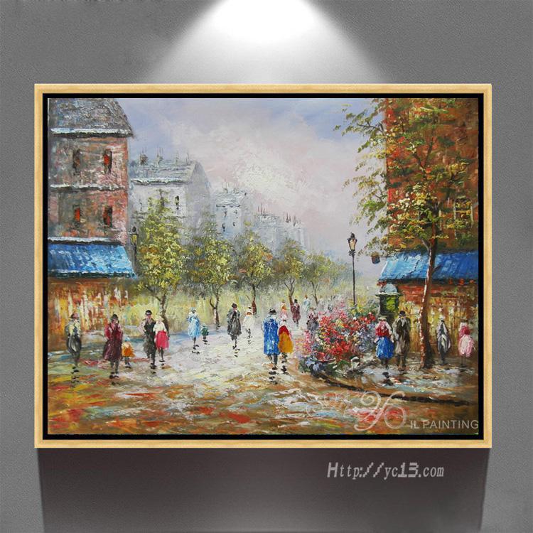 wall art photos pour salon d coration de la maison paris rue art toile peintures l 39 huile. Black Bedroom Furniture Sets. Home Design Ideas