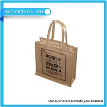 Insignia de la impresión de yute bolsa de yute venta al por mayor bolsas