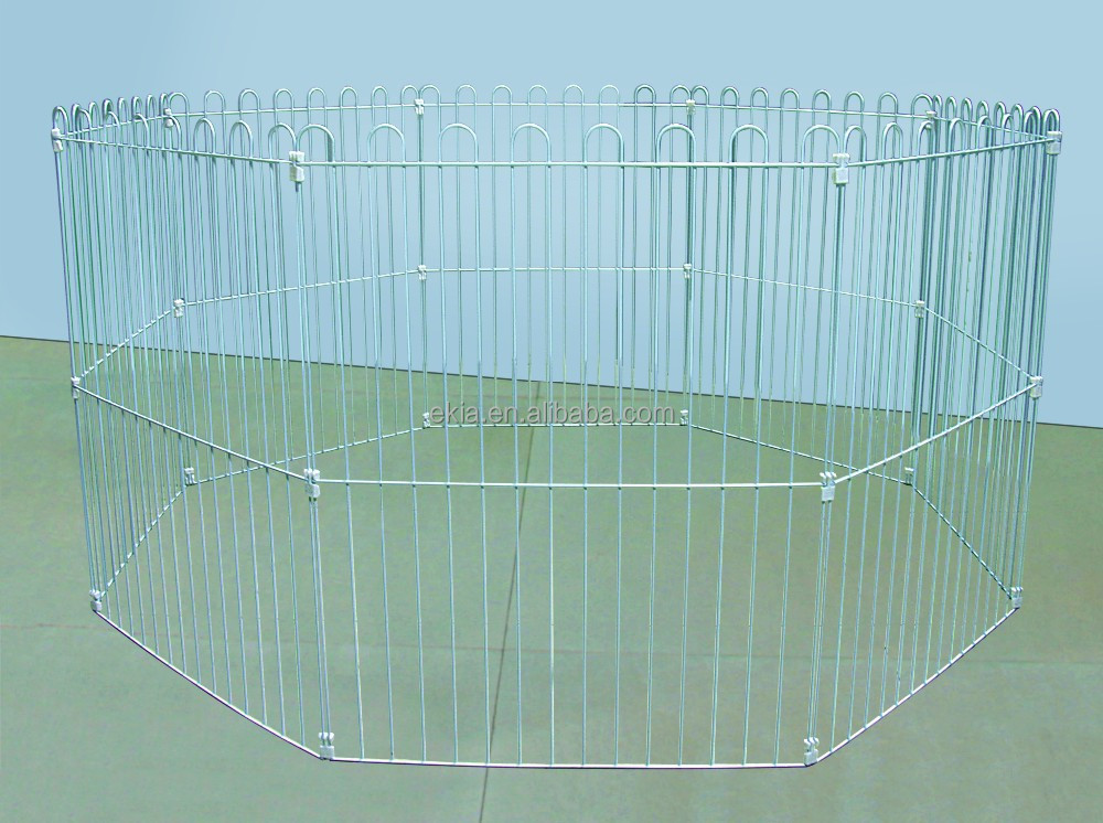 Dog Playpen Crate Fence Pet Kennel Play Pen Exercise Cage -8 Panel