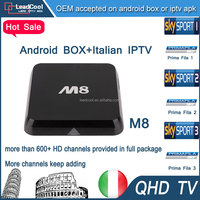 Amazon best sellers 2015 TV box 4k M8 Android iptv box with iptv apk can free enjoy sky uk sky de sky it Italian channels