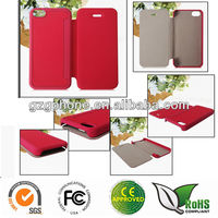 Leather case for iphone5c cover(OEM Manufacture)