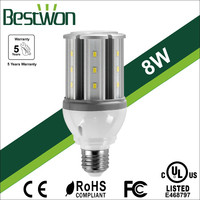 Closed Luminaires Available Samsung 8W LED Corn Bulb Lights with UL Approval,5Years Warranty,Waterproof LED Corn Light