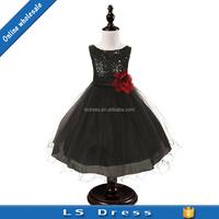 children frock latest dress designs black color girls summer dress