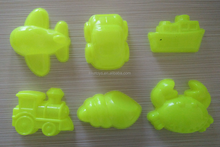 Summer sand playing toy,high quality plastic molds,six-piece aeriamphibious molds