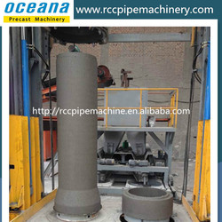 Double-position vertical vibration concrete pipe making machine, rcc drain pipe