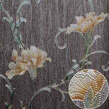 Heavy vinyl wallpaper beautiful flower wall paper