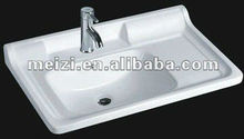 Popular sanitary ware top mounted basin