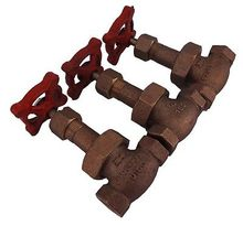 "NEW Lot 3 B-22 1/4""FNPT 150PSI Brass Threaded Bronze Globe Valve"