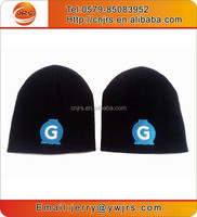 China factory wholesale knitted embroidery logo beanie