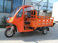 Semi-closed Tricycle 200cc Cargo tricycle air cool engine three wheel motor tricycle with CCC