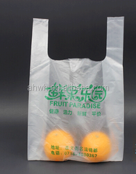 customized plastic bag manufacturer/t-shirt promotional bag made in China