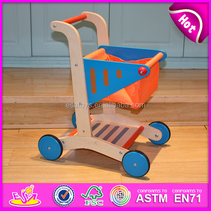 wooden shopping cart toddler 2