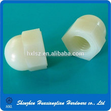China Manufacture Supply White Plastic Hex Cap Nut M4
