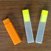 PP small square plastic case with caps