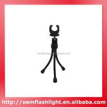 Mini Portable Swivel Adjustable Flashlight Tripod for Led Flashlight with 20mm - 26cm Diameter