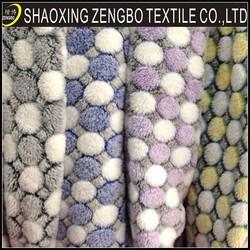printing new design coral fleece fabric polka dots print