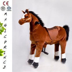 (EN71&ASTM&CE)~(Pass!!)~Port Dalian Ride On Horse Toy for kids Adorable Fine Quality Toy Horse Walking Rider, Large Toy Horse,