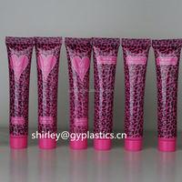 Hot sale unique empty plastic squeeze soft cosmetic tube packaging,colorful skin care cream plastic storage tube