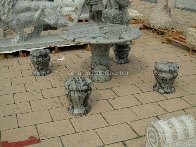 mesas y bancos de piedra artesanal moderna con hermosos diseos para jardn familia yls
