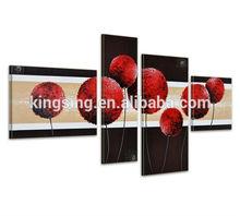 caliente venta de pintura hecha a mano de arte sobre lienzo