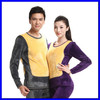 Top Brand High Quality Winter Warm Wool Thermal Underwear Set Men And Ladies Long Johns
