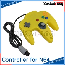 Yellow Game JoyPad Controller For Super 64 N64 System