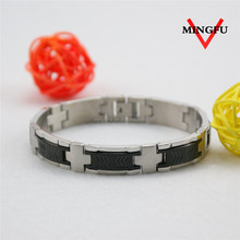8.0inch plated black A class 316L stainless steel bracelet