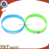 advertising gift egypt hand wristband rubber colorful silicone rubber bracelet