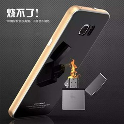 Aluminum Metal Frame Tempered Glass Back Cover Case For Samsung Galaxy Note 5