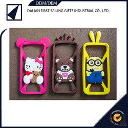 Wholesale waterproof durable quality silicon phone case with animal design